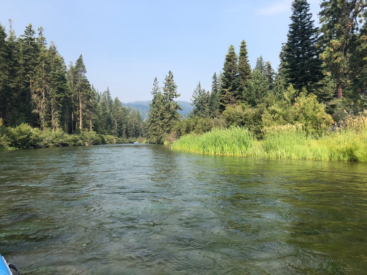 truckee river from raft