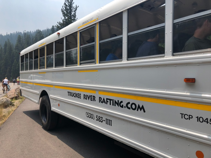 truckee river rafting bus
